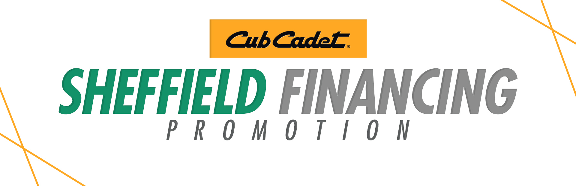 Cub Cadet: Sheffield Financing